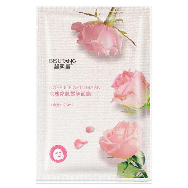 Розовая маска для лица, увлажняющая маска для лица, свежая маска против акне, растительный экстракт, контроль масла, увлажняющие маски для лица
