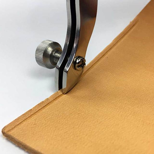 Adjustable edge Leather Edger Skiving line sew thread line Tool Belt Makers High quality stainless Steel Leather craft DIY tools