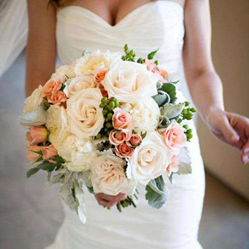 30pcs 8cm Multicolor Artificial Flower Bouquet Foam Rose For DIY Bridal Flower Wreath Wedding Decoration Home Flower Decorative