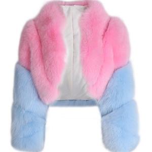 Image 4 - fur real jacket ladies natural fur shawl fox fur real jacket