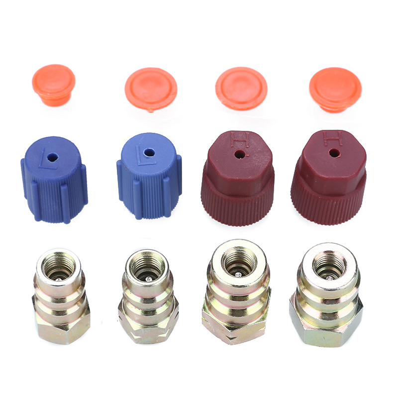 1 Set styleinside A//C R12 to R134a Low//High Side Retrofit Conversion Adapter Fitting Cap Valve