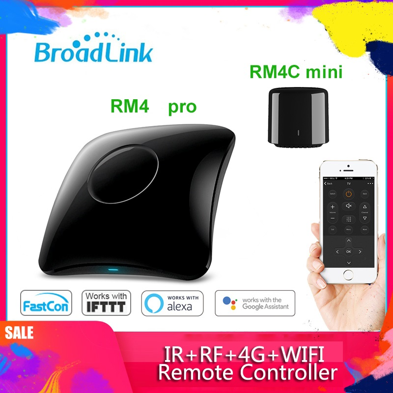 Broadlink RM4 Pro+ RM4 Mini 2020Universal Intelligent Remote Controller Smart Home Automation WiFi+IR+RF Switch For IOS Android
