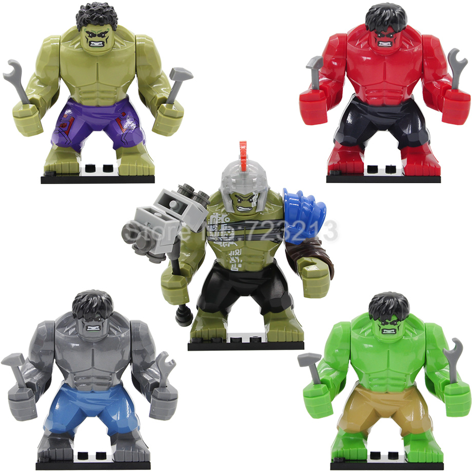 Rome Hulk Marvel Super Heroes Avengers GREEN HULK 7cm High The Amazing Action Building Block Sets Model Bricks Legoing