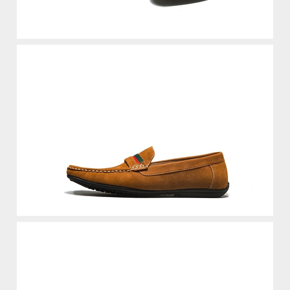 H2887461856b74e9aad88494a5e418f49s Men Loafers shoes 2020 Autumn Fashion Moccasins Footwear Suede Slip-On Brand Men's Shoes Men Leisure Walking Men's Casual Shoes