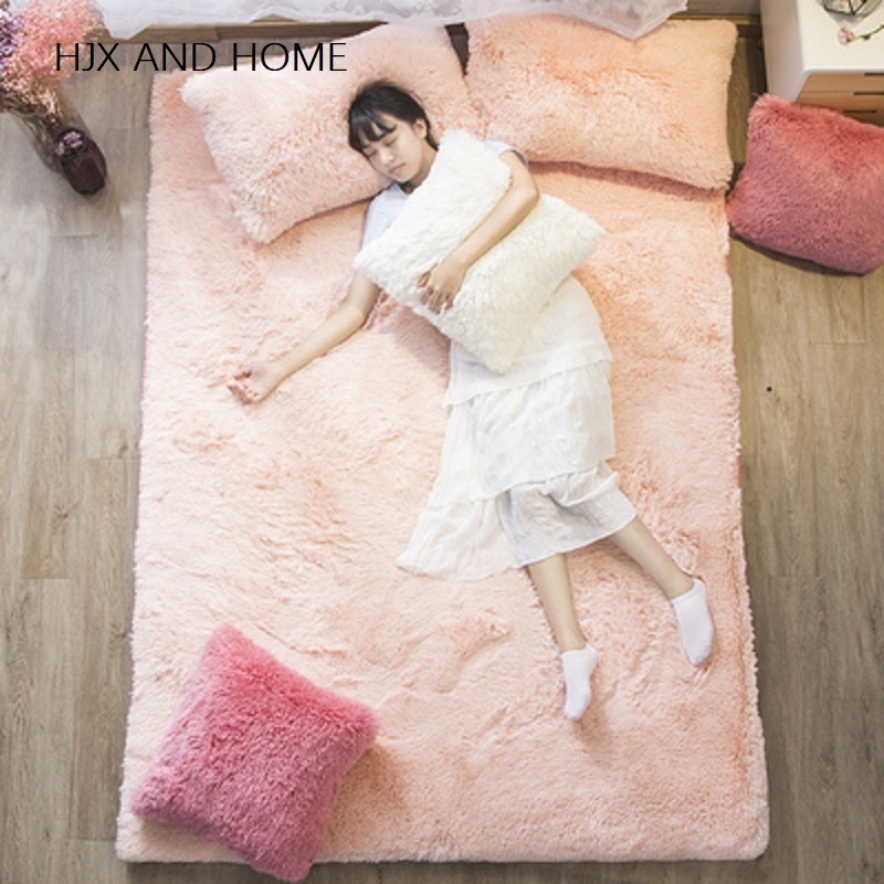 100% Coral Fleece Comfortable Fabrics Warm In Winter Mattress Foldable Mats  Folding King Queen Twin Full Size Bed Product