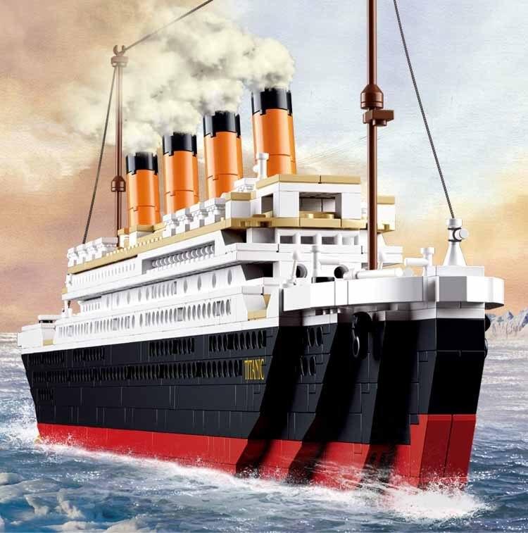 Modelo Kits de construcción de la ciudad de Titanic barco 3d bloques educativos juguetes de construcción en miniatura-para los niños Compatible Lepining