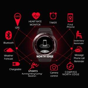 Image 4 - نظام تحديد المواقع ساعة ذكية رجالي ساعة رقمية معدل ضربات القلب الارتفاع بارومتر البوصلة Smartwatch الرجال تشغيل جهاز مراقبة اللياقة الرياضية نورث ايدج