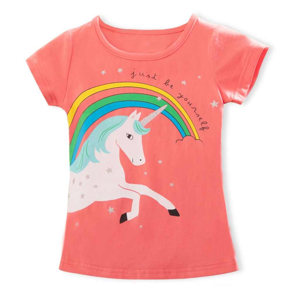 2020 แฟชั่นฤดูร้อน Unisex Unicorn เสื้อยืดเด็กแขนสั้น Tees สีขาวเด็กทารกผ้าฝ้ายเสื้อสำหรับหญิง 3 8Y