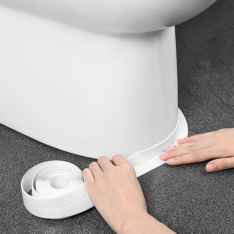 Kitchen Bathroom Waterproof And Mildew Tape Home Moisture-proof  Beautiful Seam Corner Stickers Kitchen Bathroom Accessories