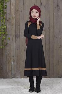 Image 2 - Muslim Long Sleeve Dress For Girl Child Kid Abaya Islamic Dubai Arabic Robe Gowns Traditional Clothing
