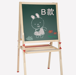 One Two-Step Children Magnetic Wooden Double-Sided Height Adjustable Drawing Board Household Drawing Graffiti Black And White Dr