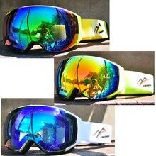 Mężczyźni kobiety Anti-fog Gogle narciarskie podwójna warstwa snowboard ochrona Gogle narciarskie maska Gogle śnieżne Gogle narciarskie okulary BI50SE