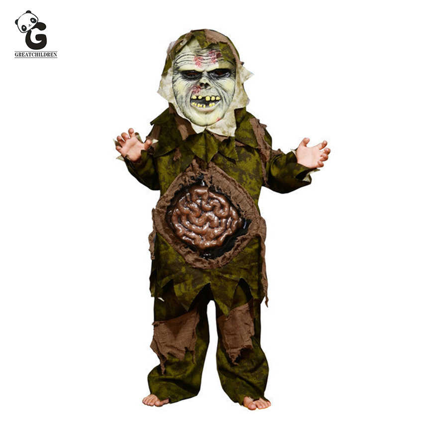 Horror Costume Halloween Clothes Scary Zombie Ghost Intestines Kids Halloween Costumes Creepy Swamp Party Props Zombie Set