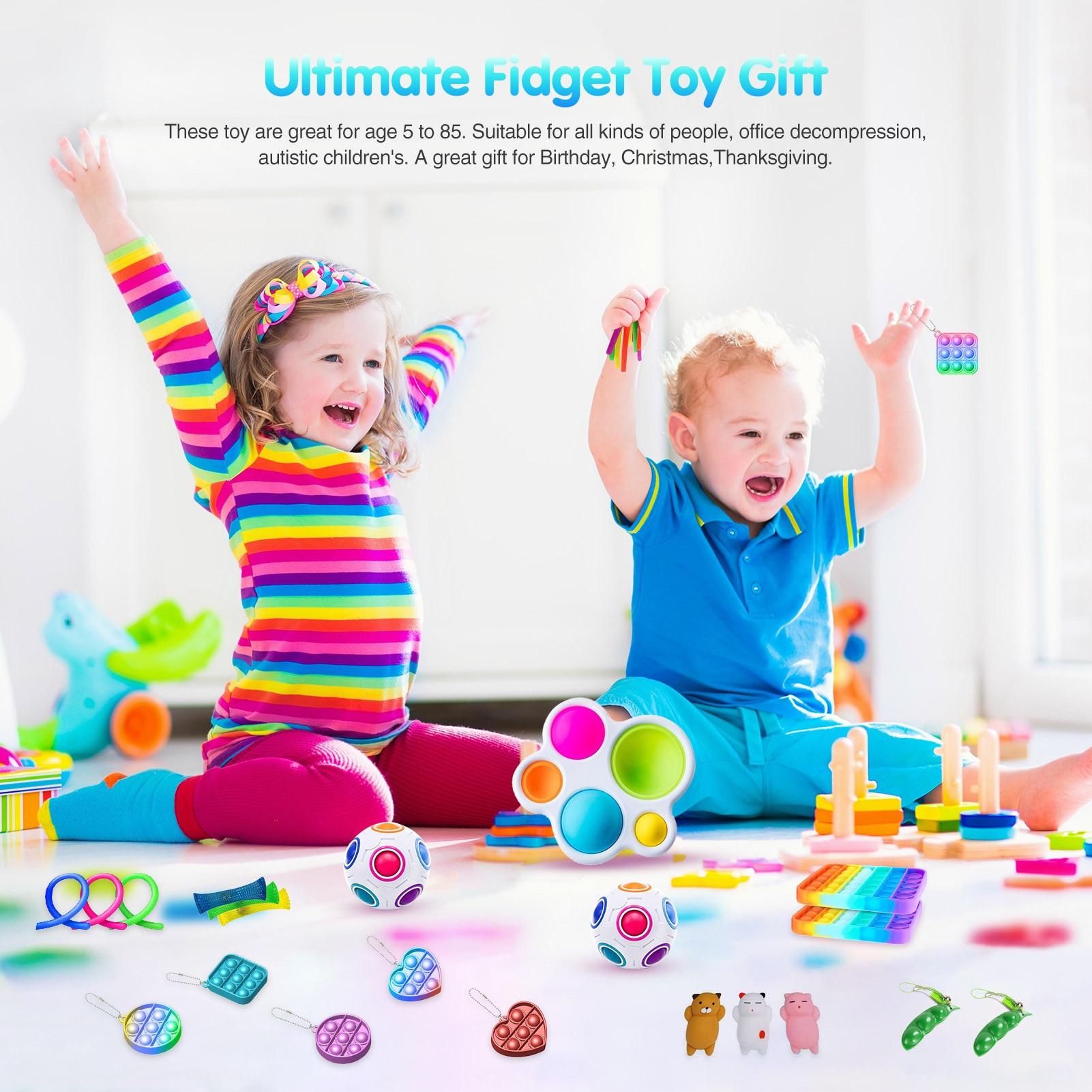 Toys-Set Fidget-Toys Decompression-Sensory Fun Squeeze Bubble Children's Cartoon Board-Game img2
