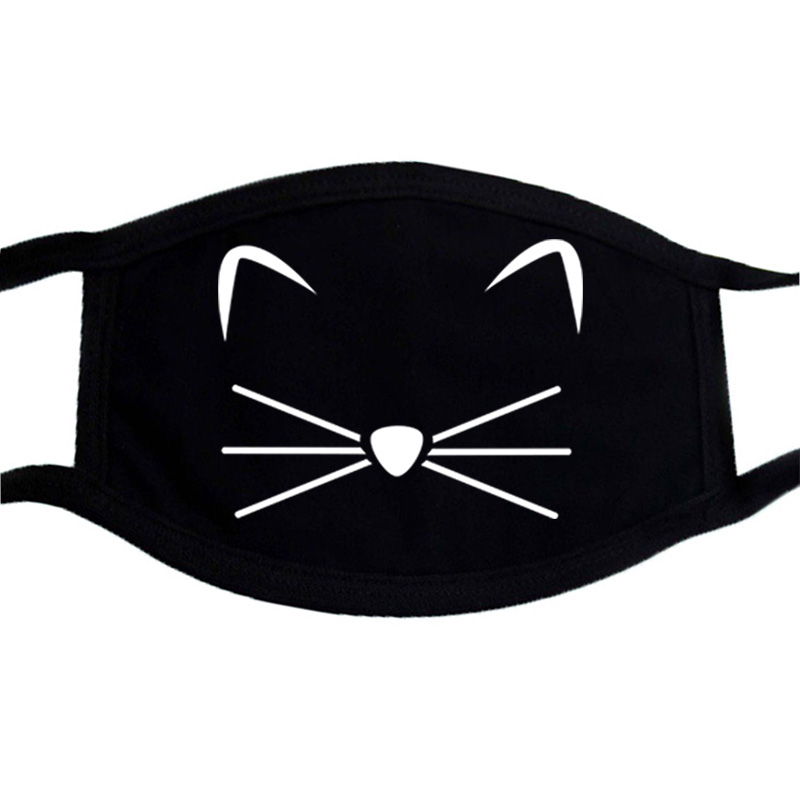 Cartoon Lovely Cat Cotton Mouth Face Masks Keep Warm Dustproof Accessories Anti-dust Pollution Unisex Anime Mouth Mask