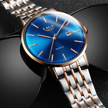 цена на LIGE Fashion Mens Watches Top Brand Luxury Quartz Watch For Men Casual Stainless Steel Waterproof Sports Watch Relogio Masculino