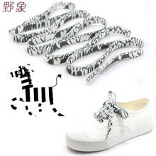 Black and white Shoelace decoration Pattern Colored Shoe Laces Flat Shoelaces  England Style lace Sznurowadla Dentelle