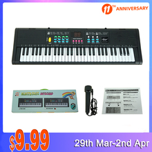 Microphone Keyboard Piano Portable Electronic-Musical-Instrument Digital And 61-Key