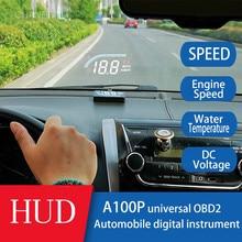 Универсальный автомобильный Hud Дисплей вождения компьютера A100 плюс OBD 2 лобовое стекло цифровой двигатель скорость проектор температура воды