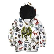 Толстовки с 3d принтом love dragon детский пуловер свитшот спортивный