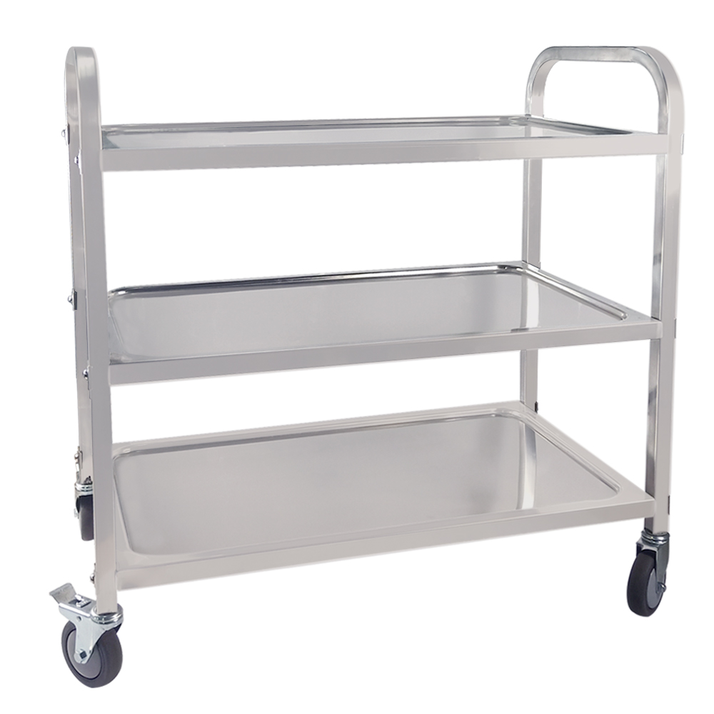 Restaurant Cart Removable 4 Tiers Metal Rolling Wheel Storage Rack Trolley Cart