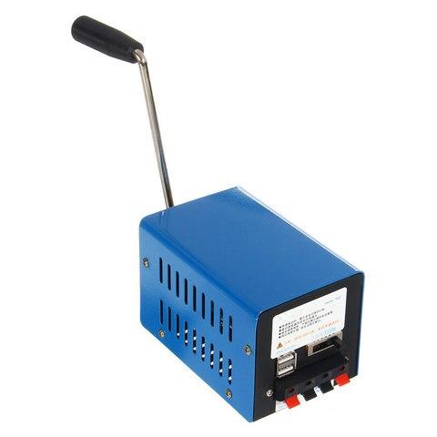 alta potencia carregador portatil de emergencia mao energia manivela usb carregamento emergencia sobrevivencia azul manivela