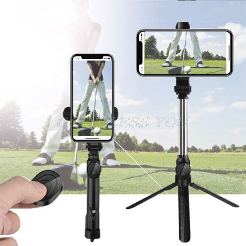 Tripod Golf Swing Holder Recorder Bluetooth Selfie Stick Cell Phone Clip Holder Mini Extendable Multifunction Wireless