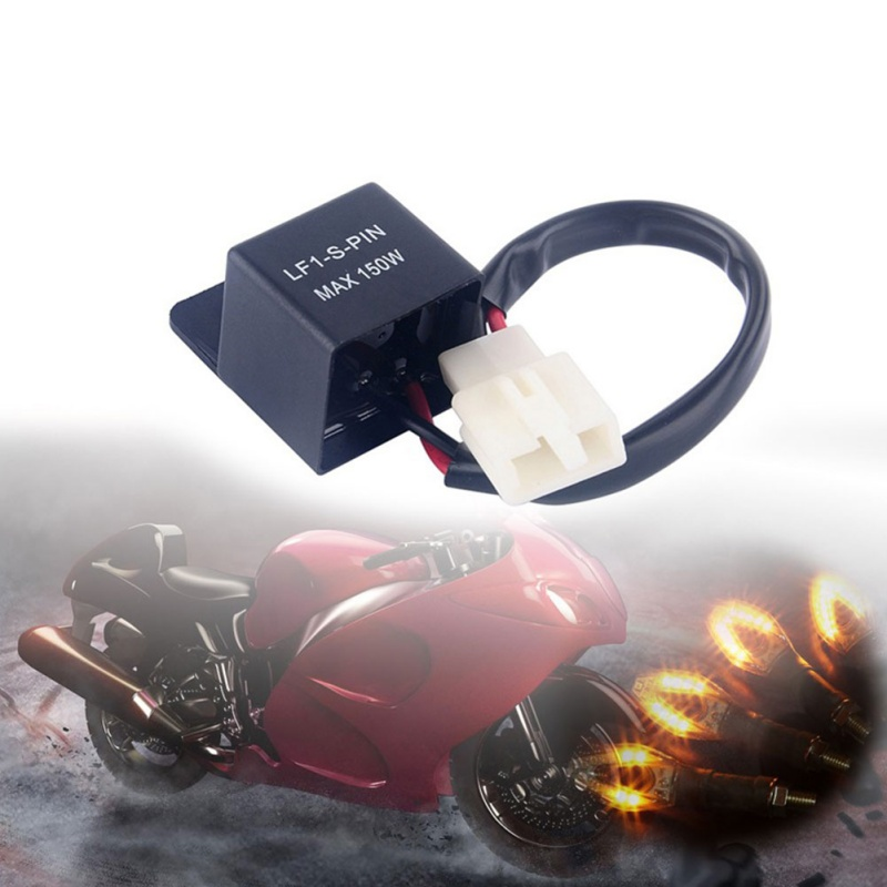 Motorcycles Waterproof 2 PIN Turn Light LED Lamp Flasher Relay Turn Signal Rate Control Blink Relay Lamp Car Truck Tail Light