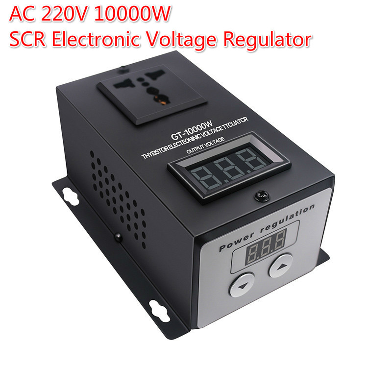 AC <font><b>220V</b></font> 10000W SCR Electronic <font><b>Voltage</b></font> <font><b>Regulator</b></font> Temperature Speed Adjust Controller Dimming Dimmer Thermostat image