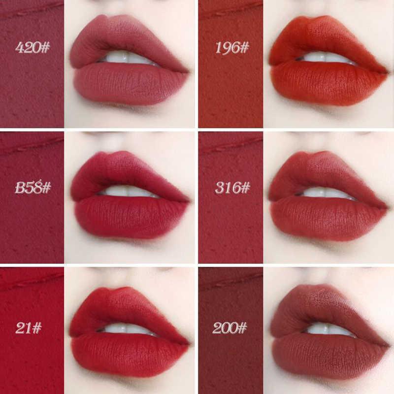 NOVO 2019 brouillard moelleux Tube petite bande d'or rouge à lèvres Net rouge carré Tube parité mat rouge à lèvres imperméable à l'eau durable maquillage TSLM1