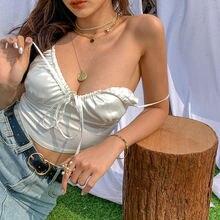 Топ женский шифоновый в стиле Харадзюку Пляжная винтажная рубашка