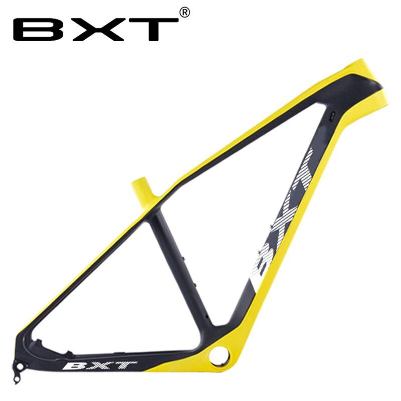 BXT Carbon Fiber Mountain Bike Frame 27.5er Chinese Carbon Mtb Bicycle Frame T800 Carbon Frame BSA/PF30 MTB Bicycle Frame