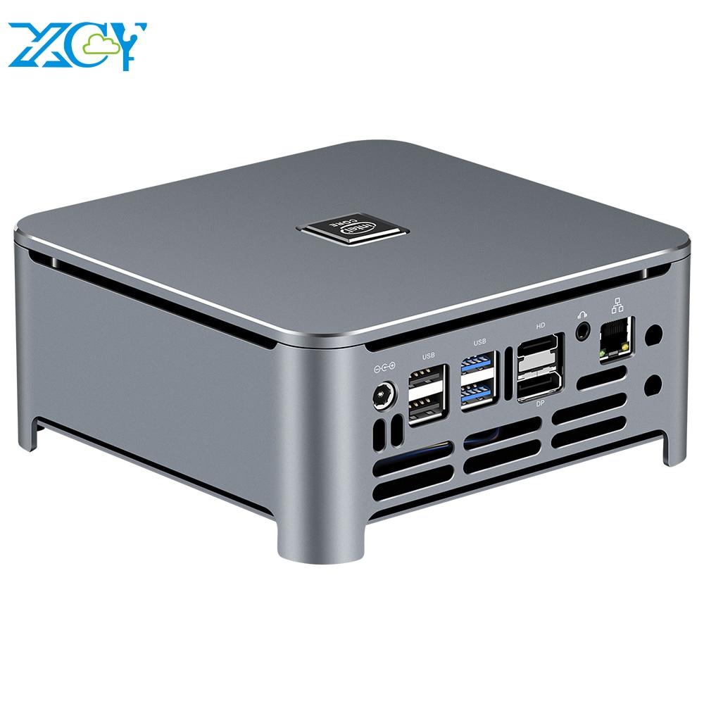 XCY Mini PC Intel Core I9 9980HK 8 Cores M.2 NVMe SSD 2*DDR4 UHD Graphics 630 2.4/5.0G WiFi Bluetooth 4.0 HDMI DP 4K Windows 10