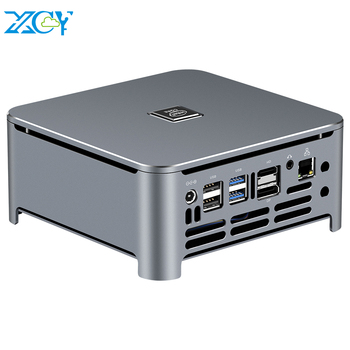 XCY Mini PC Intel Core i9 9980HK 8 Cores M.2 NVMe SSD 2*DDR4 UHD Graphics 630 2.4/5.0G WiFi Bluetooth 4.0 HDMI DP 4K Windows 10 моноблок hp proone 440 g4 aio 23 8 intel core i3 8100t 8gb ddr4 1000gb 128gb ssd dvd rw intel uhd graphics 630 wifi bt kbd mouse windows 10 pro