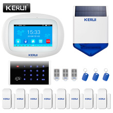 KERUI K52 Alarm System 4.3inch Full Color Touch Screen WIFI GSM Security Alarm System With App Remorte Control English Language 7 inch touch screen 868mhz alarm with english german italian dutch french czech finnish for option home secure gsm alarm system