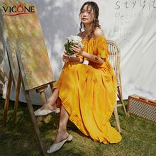 Женское длинное платье рубашка vicone однотонное свободное макси