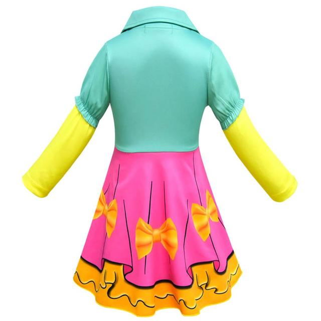 LOL Surprise Doll Long Sleeve Cosplay Dress Suit Clothes for Girls Kids Halloween Party Costume Baby Children Clothing