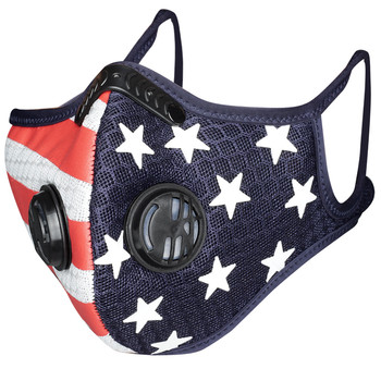 Unisex Flag Print American Face Mask Outdoor PM2.5 Anti-pollution Mouth Mask Sport Training Mask Washable Cycling Bike Mask #25