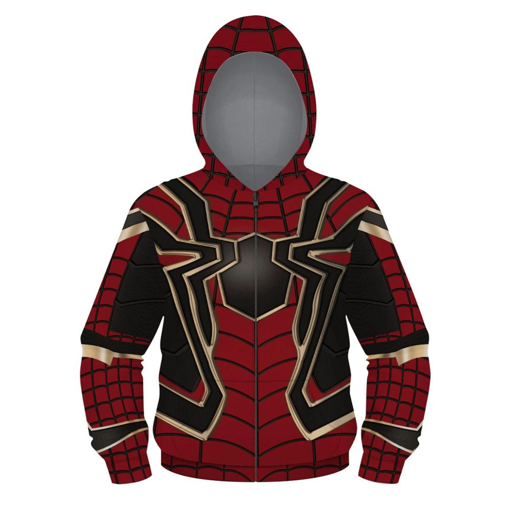 Best Selling Avengers Spider-Man Boys Jacket Digital Printed Zipper Boys Sweater Hooded Loose Casual Boys Jacket Children's Wear image
