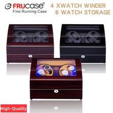 Dobadoura do relógio para relógios automáticos nova versão 4 + 6 acessórios de relógio de madeira caixa de armazenamento relógios coletor