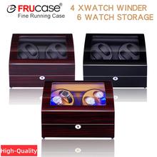 Pokrętło zegarka na zegarki automatyczne nowa wersja 4 + 6 drewniany zegarek zestaw akcesoriów zegarki przechowywanie luksusowe tanie tanio FRUCASE Pudełka do zegarków Moda casual 15cm Nowy z metkami 19cm 12 2cm Mieszane materiały