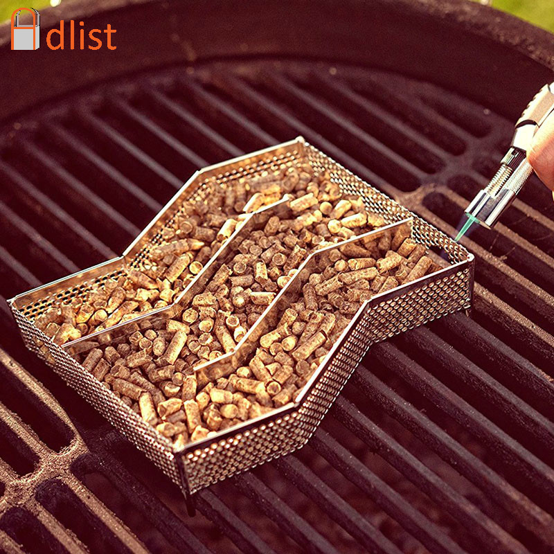 Cold Smoke Generator Box Stainless Steel Wood Pellet Smoker Bbq Grill Barbecue Accessories Barbecue Grill Cooking Tools Bacon image