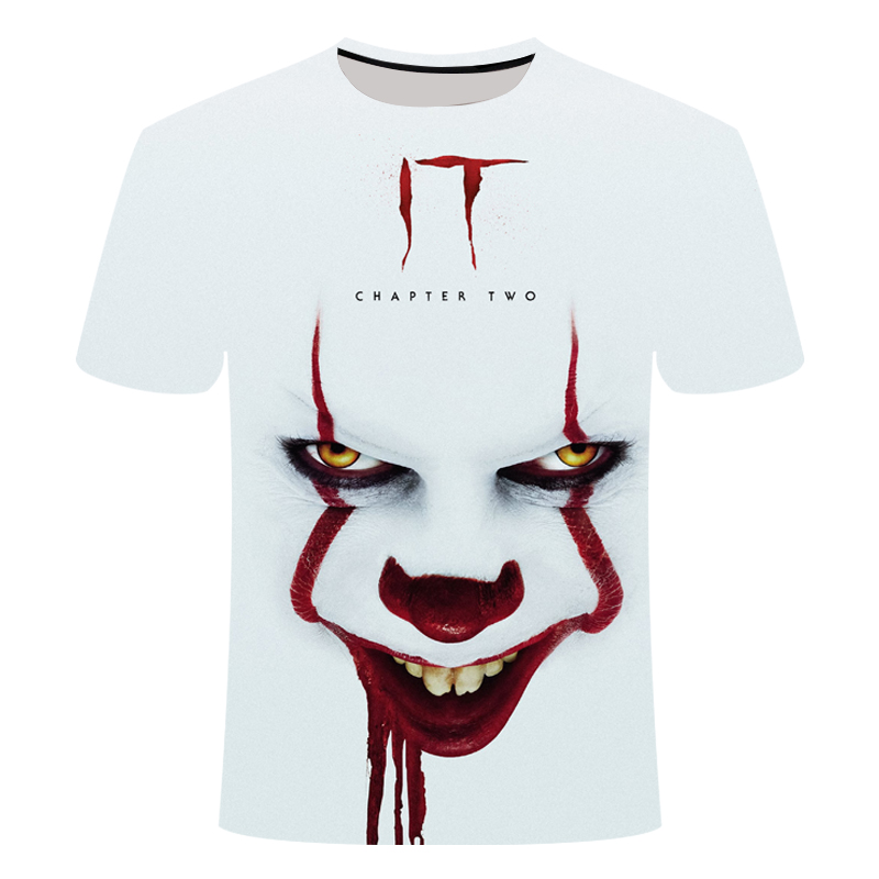 IT: Chapter Two 3D Printed T Shirt Men Women Summer IT Clown Horror Movie Casual T Shirt Thriller Terrorist Movie Men T Shirt