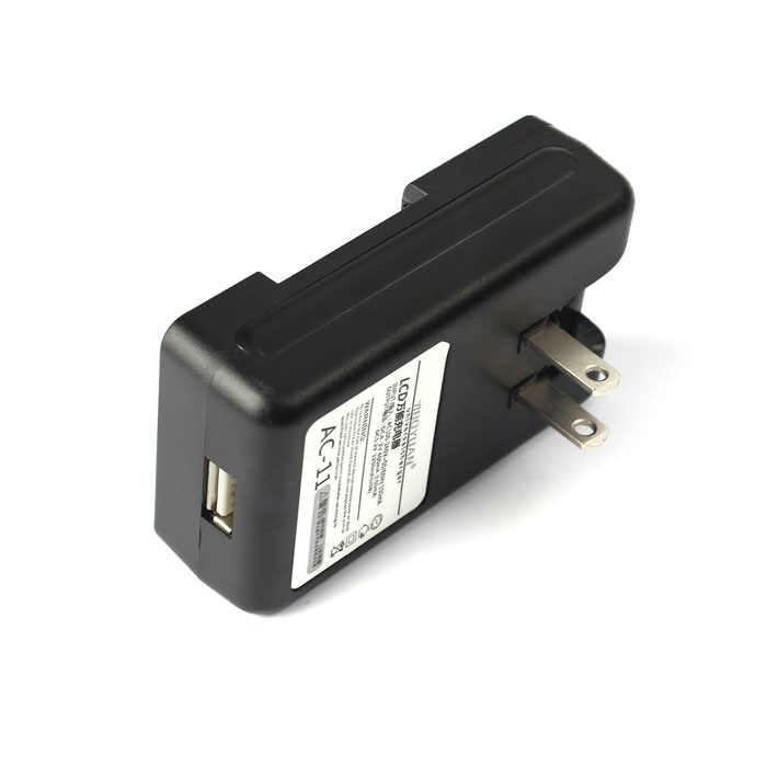 Uniwersalna ładowarka baterii LCD ekran LCD do smartfona telefonów komórkowych Port USB Power Travel adapter do ładowania czarny US wtyczka