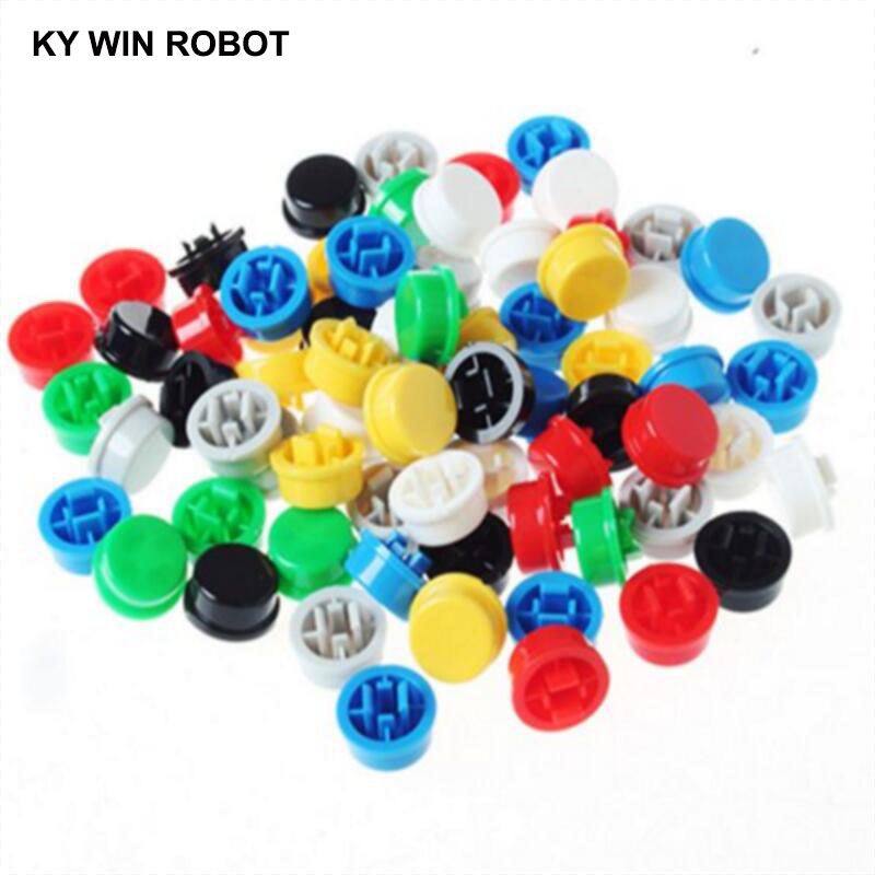 20PCS Tactile Push Button Switch Cap 12*12*7.3MM Micro Switch Button Tact Cap 5 Colors 12X12X7.3mm For Arduino