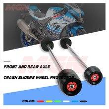 Eixo traseiro dianteiro fork crash slider para gsxr 1000 gsxr1000 GSX-R1000 2007-2020 protetor da roda da motocicleta caindo proteção