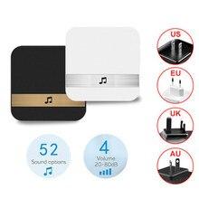 Campainha inteligente AC90-250V, campainha inteligente, campainha sem fio, wi-fi, plugue aplicativo de controle para eken v5 v6 v7 m3