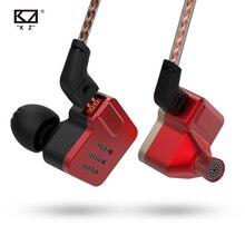 KZ BA10 5BA jednostka napędowa w uchu słuchawka 5 zbalansowana armatura odpinany odłącz kabel 2Pin DJ HIFI metalowe słuchawki zestaw słuchawkowy KZ ZS10
