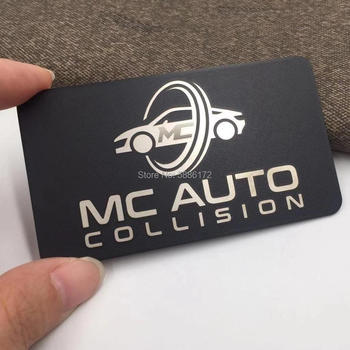 wholesale customized laser engraved high-quality black metal loyalty card metal business card e loyalty
