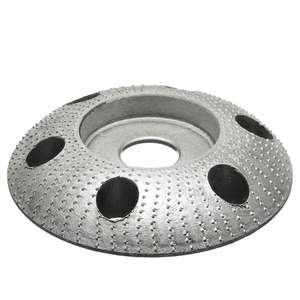 Image 4 - 110mm madeira moldar disco redondo escultura disco com furo 22mm furo roda moedor de lixar para 115 125 ângulo moedor novo